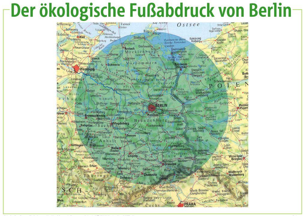 Der ökologische Fußabdruck von Berlin