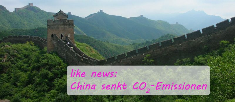 China senkt CO2 Emissionen - energie neu denken