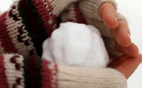 Handschuh Schneeball
